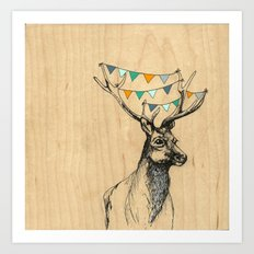 Where's the party? Art Print