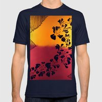 The Flower of our Discontent Mens Fitted Tee Navy SMALL