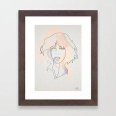 One Line Patti Smith Framed Art Print