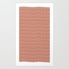 Color Blocks Pattern Art Print