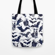 Tote Bag featuring BATS by DIVIDUS