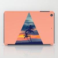 Palms and sunset triangle iPad Case