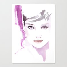 Fashion illustration in watercolors and ink Canvas Print