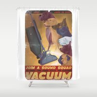 Sound Squad Anti-Vacuum … Shower Curtain