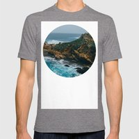 Big Sur Coast Mens Fitted Tee Tri-Grey SMALL