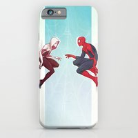 iPhone Cases featuring Worlds Collide by ribkaDory