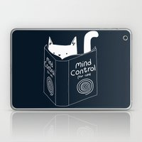 Mind Control For Cats (dark blue) Laptop & iPad Skin