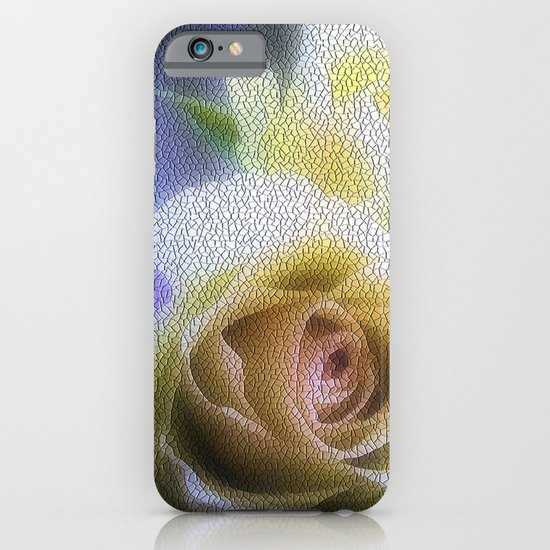 Old Love Gentle Rose - Pastel Vintage Mosiac iPhone & iPod Case