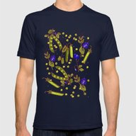 Pea Garden Mens Fitted Tee Navy SMALL