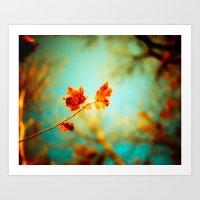 Rusty Glow Art Print