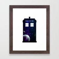 Space in TARDIS Framed Art Print