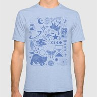 Collecting The Stars Mens Fitted Tee Athletic Blue SMALL