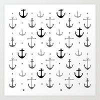anchor Art Prints featuring Anchor by Miriam Sironi