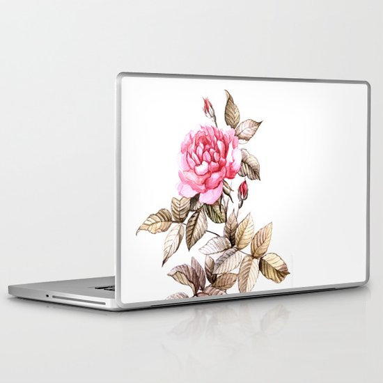 Watercolor rose Laptop & iPad Skin
