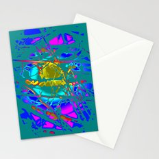 abstract bird Stationery Cards