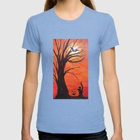 Halloween Womens Fitted Tee Tri-Blue SMALL