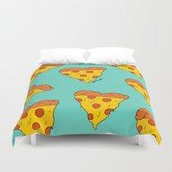 Pizza Love Duvet Cover