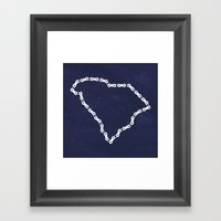 Ride Statewide - South Carolina Framed Art Print