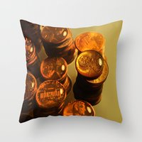 A Penny For Your Thoughts. Throw Pillow