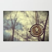 Hermoine's Time Turner Necklace Canvas Print