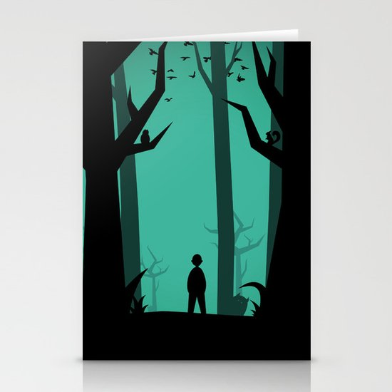 Lost In The Woods Stationery Card