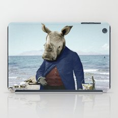 Mr. Rhino's Day at the Beach iPad Case