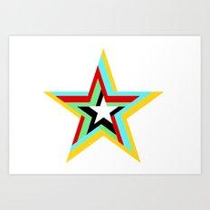 6 Star Art Print