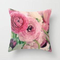 Ranunculus in Pink Throw Pillow