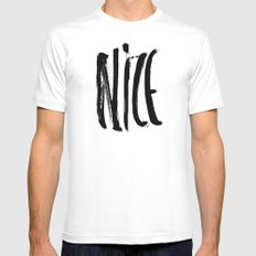 Nice SMALL Mens Fitted Tee White