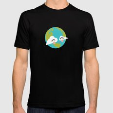 Earth Black SMALL Mens Fitted Tee