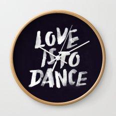 Love is to Dance Wall Clock