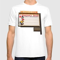 The Friendly Duck Restaurant Mens Fitted Tee White SMALL