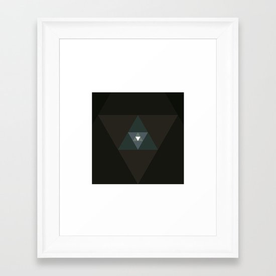 #359 Graced with light part I (triangle) – Geometry Daily Framed Art Print