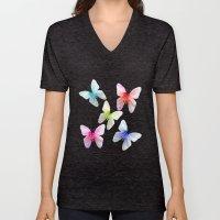 Butterfly Pink Azalea In… Unisex V-Neck