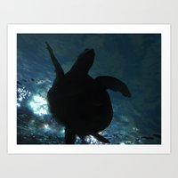 Deep Turtle Art Print