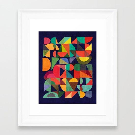 Color Blocks Framed Art Print