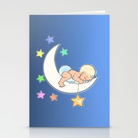 Moon Baby Stationery Cards
