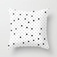 Pin Points Polka Dot Bla… Throw Pillow
