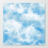Fluffy Clouds Canvas Print