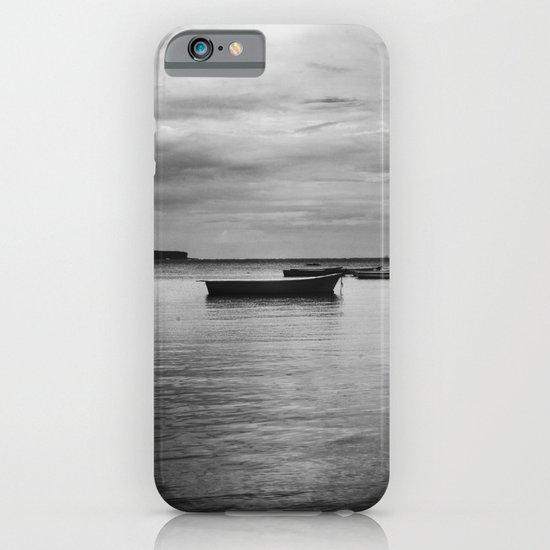 Boats on the Water (Black & White) iPhone & iPod Case