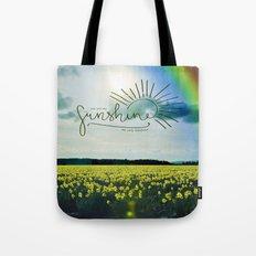 You Are My Sunshine, Rainbow Tote Bag