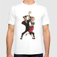 Saul & Annie Mens Fitted Tee White SMALL