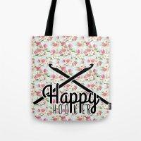 Funny Crochet Vintage Fl… Tote Bag