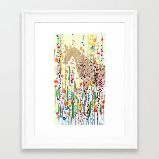le bonheur est dans le pré Framed Art Print