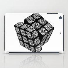 qr cube iPad Case