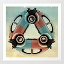 back end triangle - VW beetle Art Print