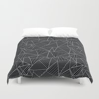 Ab 2 R Black and Grey Duvet Cover