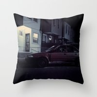 Red Camry Throw Pillow