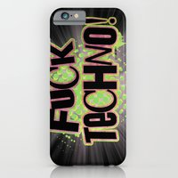 iPhone & iPod Case featuring Fuck Techno!  by LookOutBelow - Graeme V.