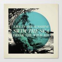 Swim the Sea Canvas Print